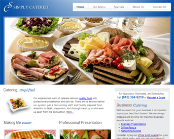 Screen Shot of SimplyCatered.net